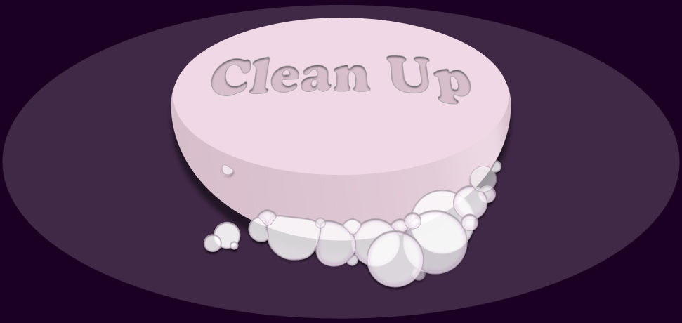 Clean Up application icon, soap and bubbles